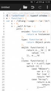quoda code editor screenshot