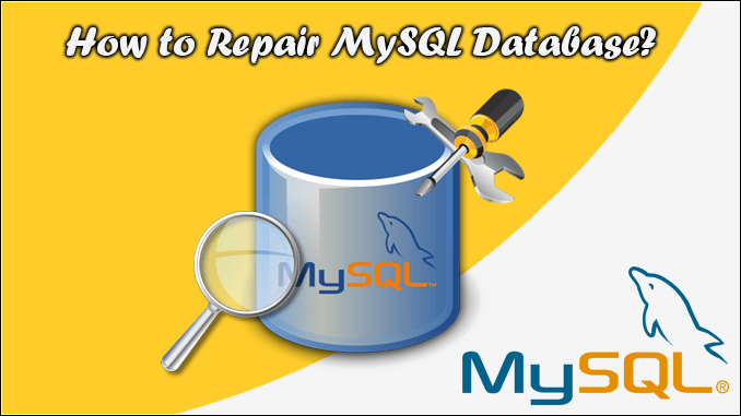 How to repair a MySQL database?